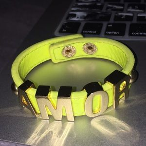 """""""AMORE"""" BCBGeneration quality leather neon yellow"""
